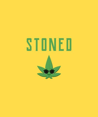 T-Shirt Design Generator with a Marijuana Leaf Cartoon 1409c