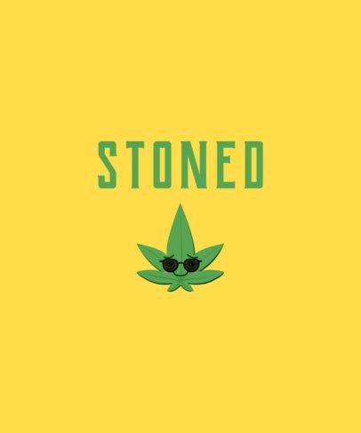 T-Shirt Design Generator with a Marijuana Leaf Cartoon 1409c
