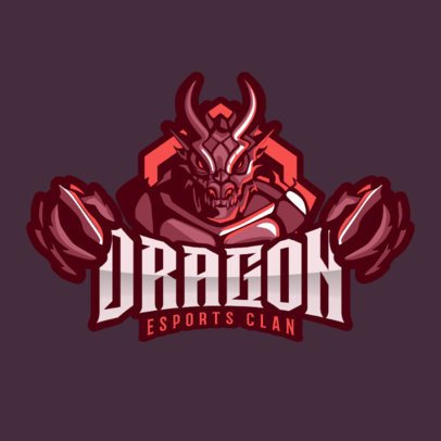 Gaming Logo Generator with a Demonic Character Clipart 2206b