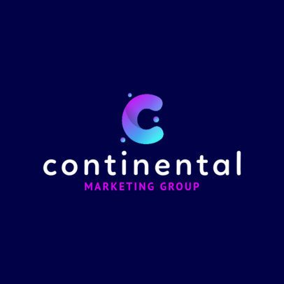 Monogram Logo Maker for a Modern Marketing Company 2227