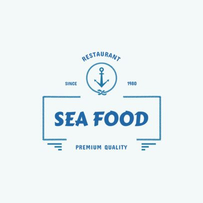 Classic Style Seafood Restaurant Logo Maker 355a