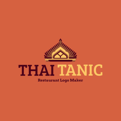 Online Logo Maker with Traditional Thai Graphics for a Thai Cuisine 1843c