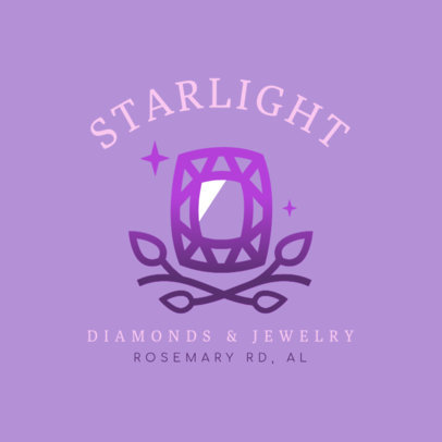 Jewelry Logo Maker with an Abstract Gem Illustration 2189a