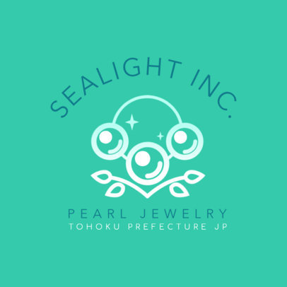 Logo Generator for a Jewelry Store with Shining Pearls 2189b