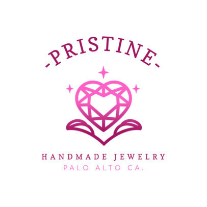 Modern Logo Maker for a Handmade Jewelry Shop with a Sparkling Heart 2189c