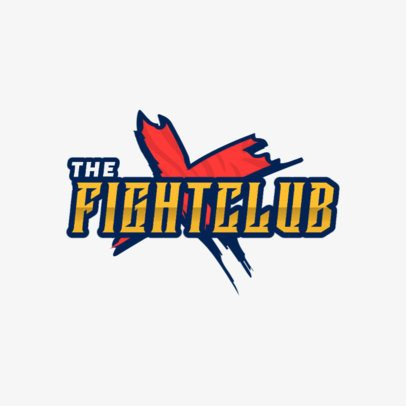 Logo Maker for a Dynamic Fighting Game Union 1873e