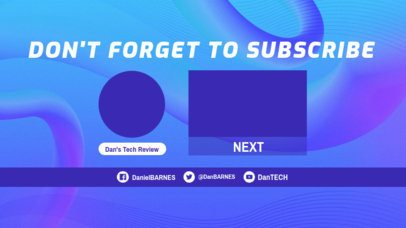 Surrealistic-Styled YouTube End Screen Template 1428c