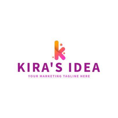 Cool Monogram Logo Maker for a Marketing Company 2227e
