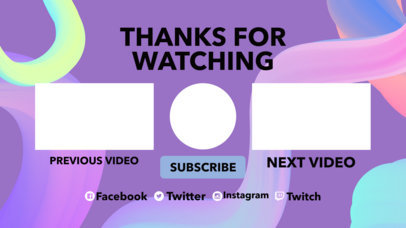 YouTube End Card Template with Pastel Tones 1432