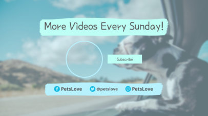 YouTube End Card Maker Featuring a Joyful Dog