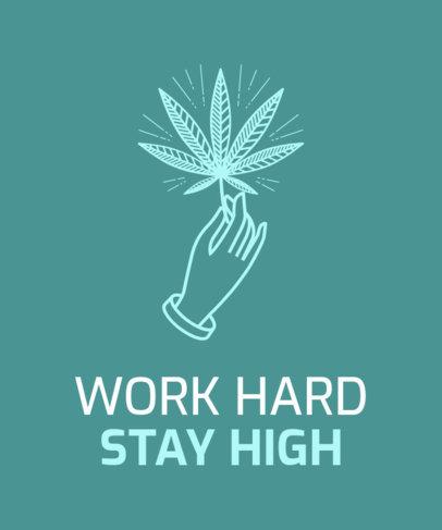 T-Shirt Design Creator for Medicinal Marijuana Users 1423d
