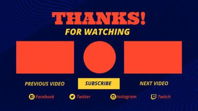 YouTube End Screen Design Template with a Color Texture Background 1439