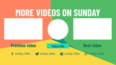 Multicolored YouTube End Card Maker with a Modern Design 1443a