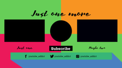 YouTube End Screen Maker with a Colorful Background 1443c