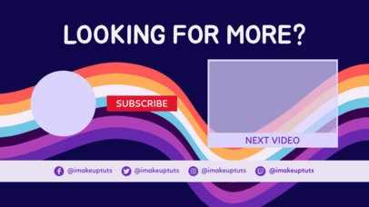 YouTube End Screen Maker with Swirling Colors 1438a