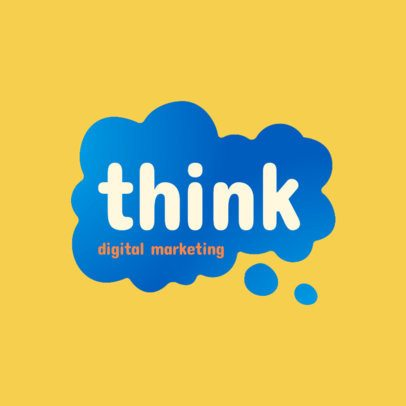 Marketing Agency Logo Maker with a Thinking Cloud 2226d