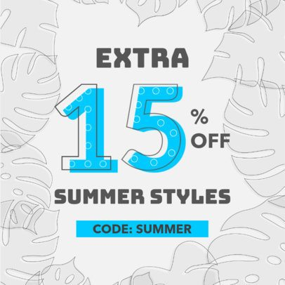 Ad Banner Maker for a Summer Promo Code 286c