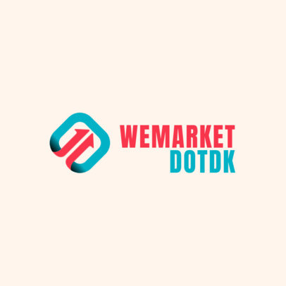Marketing Company Logo Maker with a Bi-Color Icon 2232c