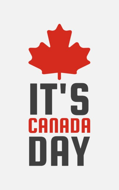 Cool T-Shirt Design Maker for Canada Day Celebrations 1152m