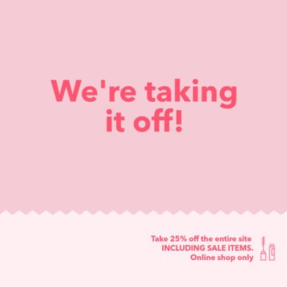 Delicate Coupon Design Template for Discounts 1032c