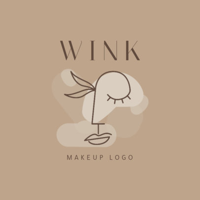 Minimalist Logo Template for a Makeup Brand 2212e