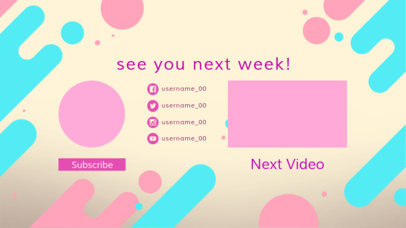 YouTube End Screen Template With Colorful Rounded Shapes 1434c