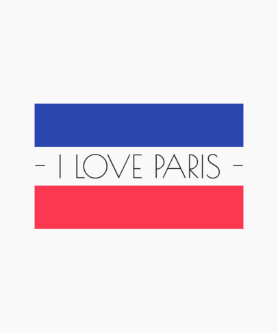 Paris T-Shirt Maker with French Flag Colors 2302b