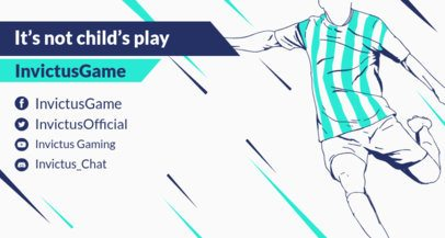eSports Twitch Banner Maker Featuring a Soccer Player 1459