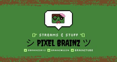 Twitch Banner Generator Featuring an 8-Bit Zombie 1451c