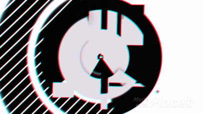 Intro Maker for an Animated Logo Reveal with Futuristic Glitch Effect 1640