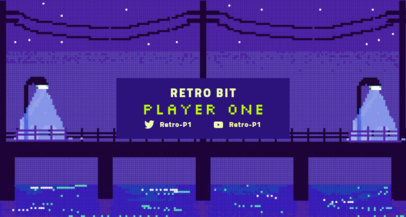 Twitch Banner Creator for Retro Gaming Streamers 1448d