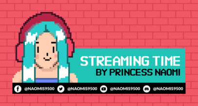 Twitch Banner Generator with Retro Pixel Characters 1449a