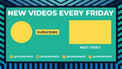 YouTube End Screen Maker with Gradient-Colored Stripes 1430d