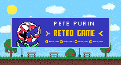 Retro Video Game Inspired Twitch Banner Maker 1453c