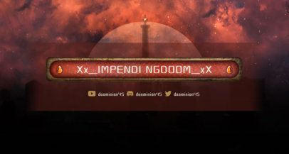 Twitch Banner Maker with Fantasy Design for RTS Games 1461a
