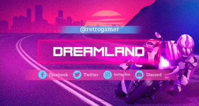 Twitch Banner Maker with Retrowave Design 1502