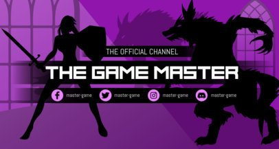 Twitch Banner Template for Adventure Gaming Channels 1460d