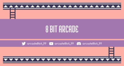 Twitch Banner Maker with Retro Pixel Art 1447d