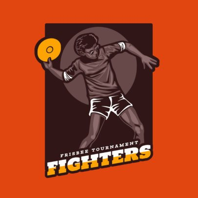 Sports Logo Maker for a Frisbee Tournament 2223b