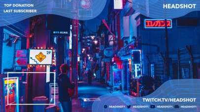 Twitch Overlay Maker Featuring a Live Cam Window Section 1244