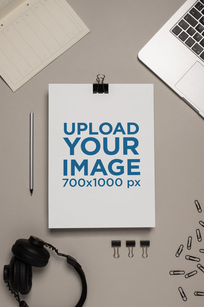Mockup of an A4 Letterhead Next To Some Electronic Devices 27211