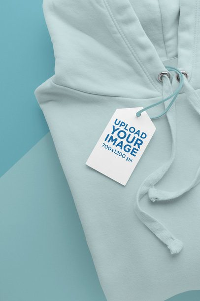 Mockup of a Brand Tag on a Hoodie 27639