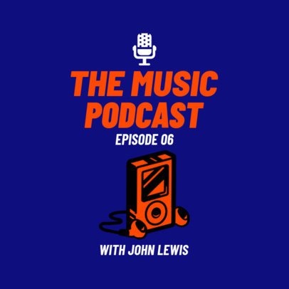 Music Reviewing Podcast Cover Maker 1498c