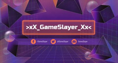 Retrowave Twitch Banner Maker with Geometric Shapes 1502j