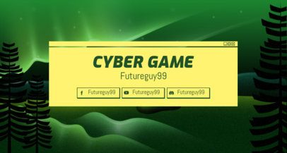 Twitch Banner Maker with a Semitransparent Wavy Design 1503g