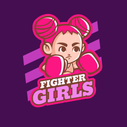 Logo Generator for a Female Fighter Game 1872c