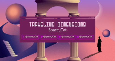 Twitch Banner Generator Featuring Architectural Columns Clipart 1503m