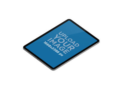 Mockup of an iPad Pro in Portrait Position Floating on a Flat Background 74 el