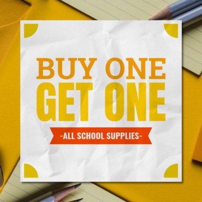Banner Maker for a School Supplies Sale 546h