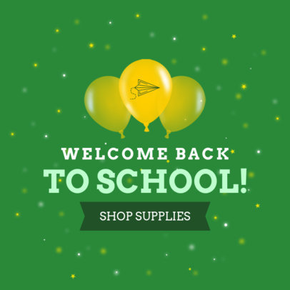 Back-To-School Themed Ad Banner Maker 749f